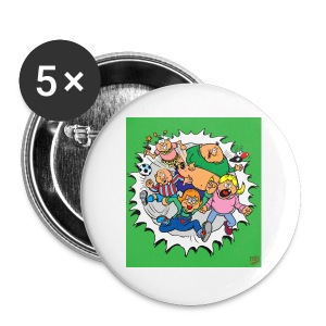 The Big Greenie Gang, Large Badge x 5 - Buttons large 56 mm