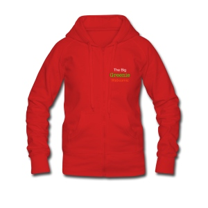 The Big Greenie, Women's Hooded Jacket - Women's Premium Hooded Jacket