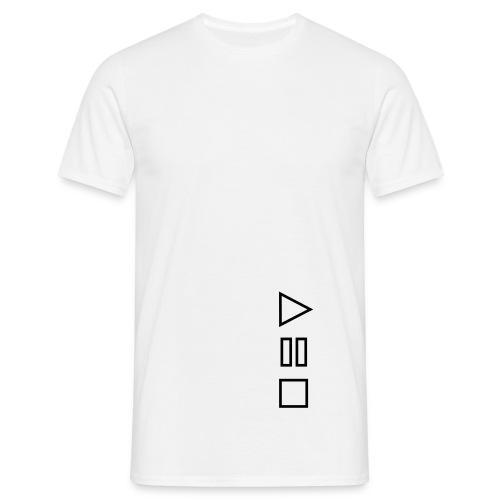 play pause stop - T-skjorte for menn