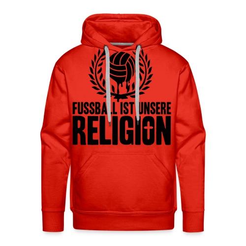 Pullover Fußball ist unsere Religion Variation 4 - Männer Premium Hoodie