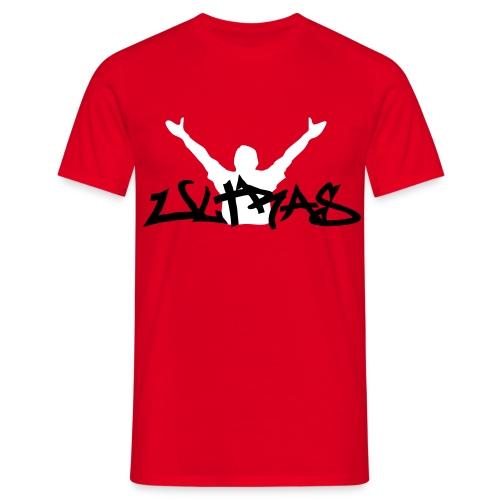 Ultras Graffitie Shirt - Rot - Schwarz/Weiß - Männer T-Shirt