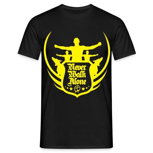 Never Walk Alone Shirt - Schwarz-Gelb - Männer T-Shirt