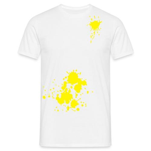 Gul Snø piss - T-skjorte for menn