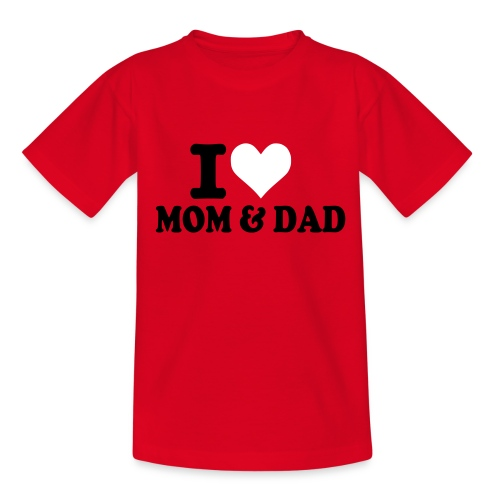 ILOVEMOMANDDAD - Nuorten t-paita