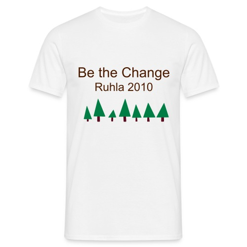 T-shirt Man Be the Change Ruhla 2010 - Men's T-Shirt