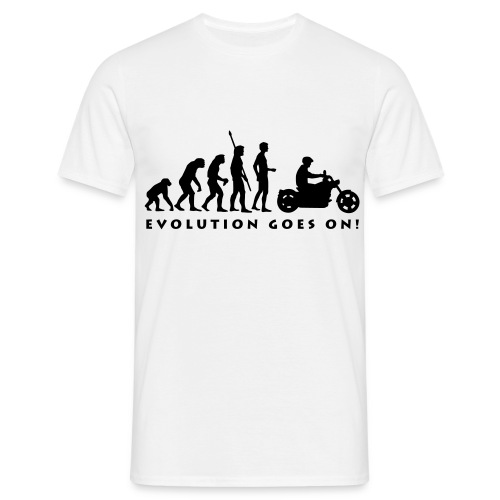 Evolution goes on! - Männer T-Shirt