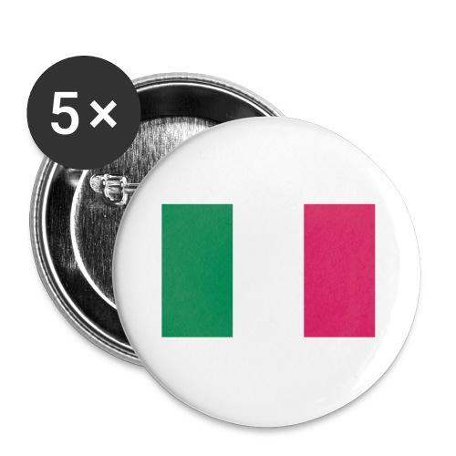 Pack de 5 badges drapeau Italien - Badge petit 25 mm