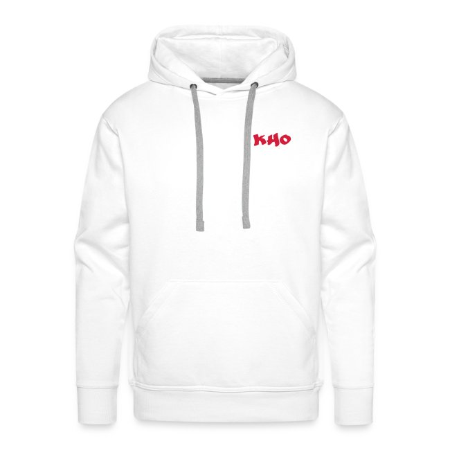 Hoodie White & Red
