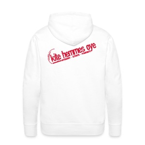Hoodie White & Red - Sweat-shirt à capuche Premium pour hommes