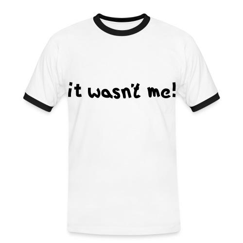 it wasnt me - Men's Ringer Shirt