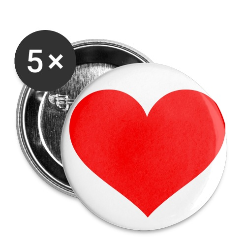 Badge small - heart - Buttons/Badges lille, 25 mm (5-pack)