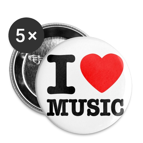 Badge small - love music - Buttons/Badges lille, 25 mm (5-pack)