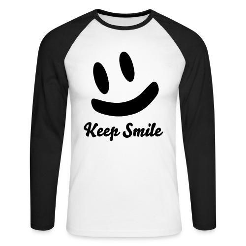 Keep Smile Men - Männer Baseballshirt langarm