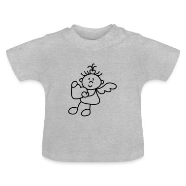 Heather grey Sweet little  Baby Shirts