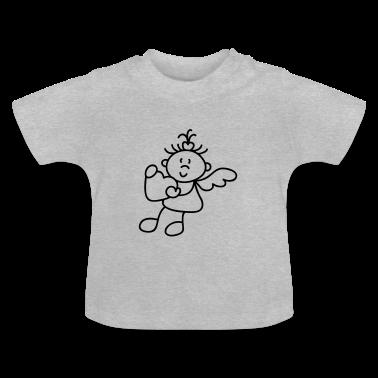 Grau meliert Kleiner süßer Engel Baby T-Shirts