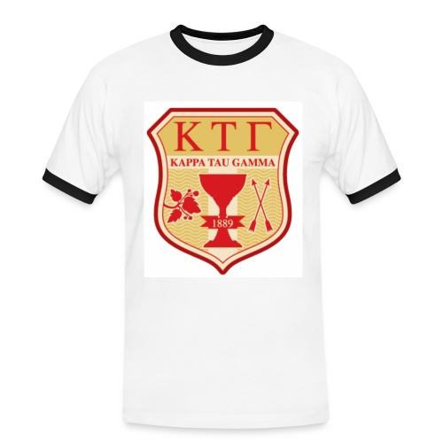 Kappa Tau Gamma Logo grande taille - T-shirt contrasté Homme