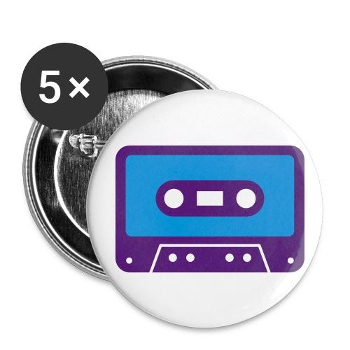 Cassette badge - Buttons medium 32 mm