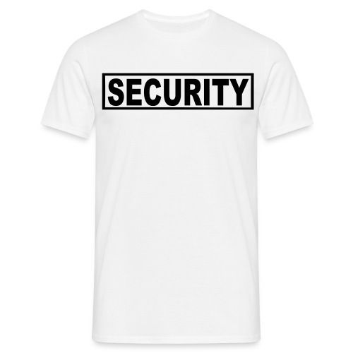 Security T-Shirt (Front Back And Arms) - Men's T-Shirt