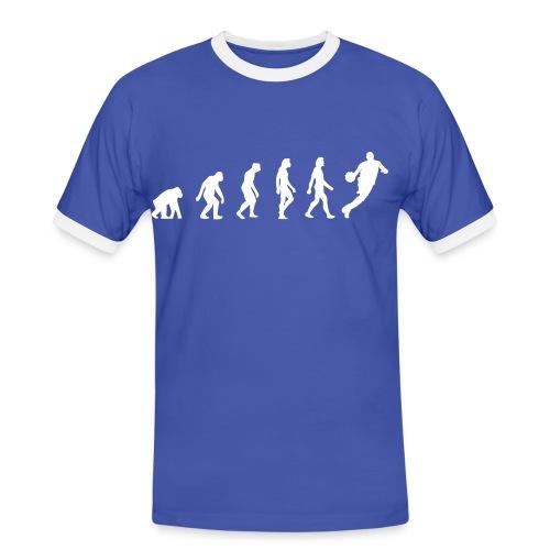 Shirt - Man : Blauw/Wit - Mannen contrastshirt