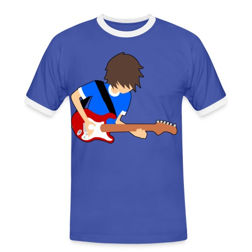 Blue Guitar T-Shirt - Men's Ringer Shirt