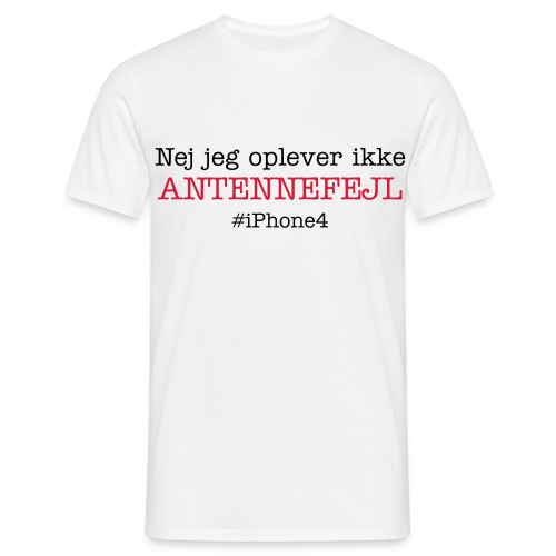 Antennefejl - iPhone4 - Herre-T-shirt