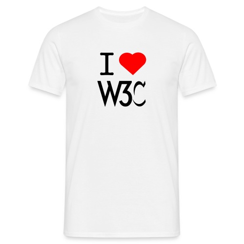 w3clove_men_white_shirt - Men's T-Shirt