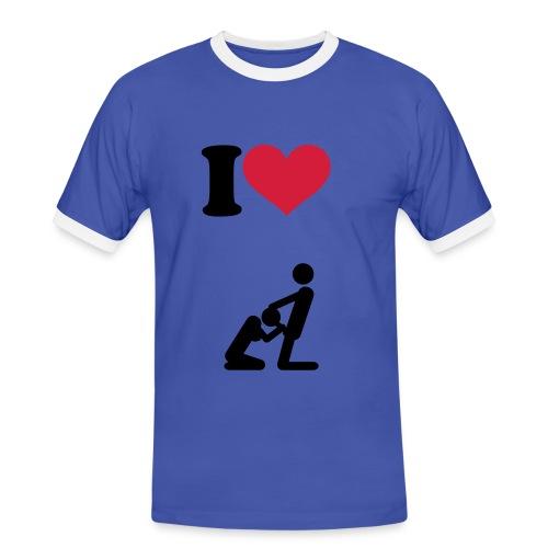 I love a good bj - Men's Ringer Shirt
