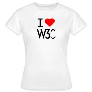 w3clove_women_white_shirt - Women's T-Shirt