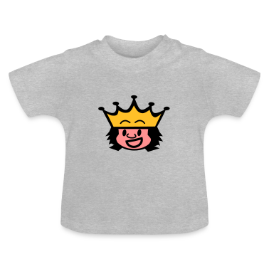 Heather grey king / queen Baby Shirts