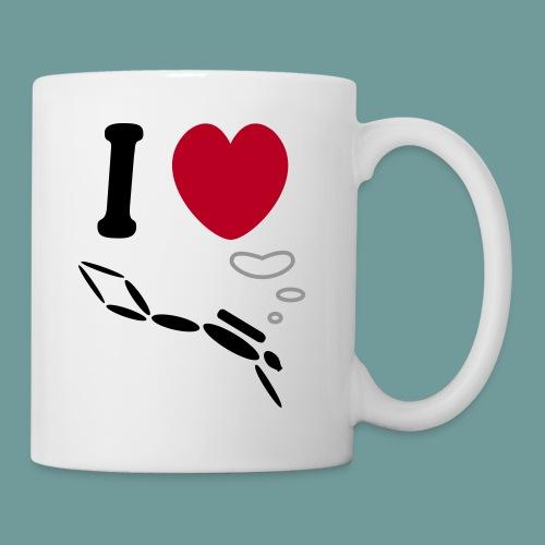 MUG I love scuba - Mug blanc