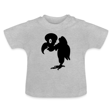 Heather grey Geier / vulture (1c) Baby Shirts