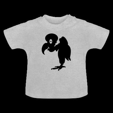 Heather grey Geier / vulture (1c) Baby Shirts