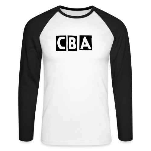 CBA Men's Long Sleeve Shirt (Black Font) - Men's Long Sleeve Baseball T-Shirt