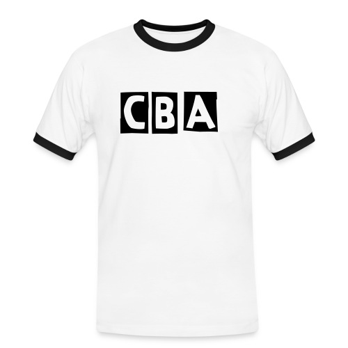 CBA Men's Contrast T-Shirt (Black Font) - Men's Ringer Shirt