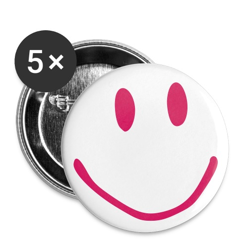 Smiley - Buttons klein 25 mm (5er Pack)
