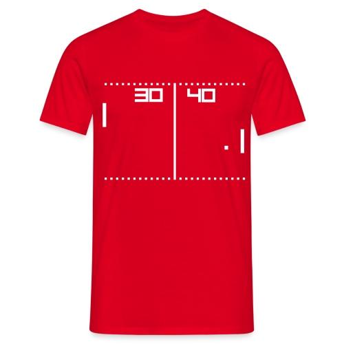 Pong Red - Maglietta da uomo