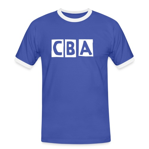 CBA Men's Contrast T-Shirt (Colour Font) - Men's Ringer Shirt