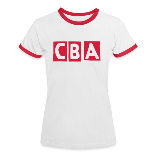 CBA Women's Contrast T-Shirt (Red Font) - Women's Ringer T-Shirt