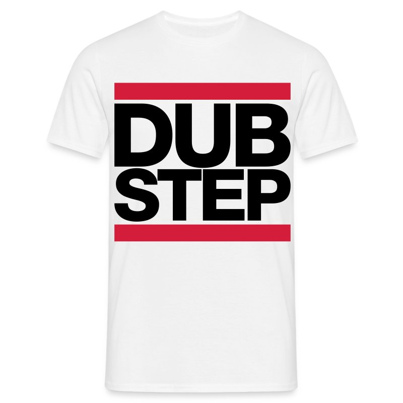 Black and red DUBSTEP T-shirt - Men's T-Shirt