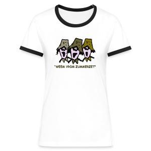 weem vrom zummerzet contrast t-shirt - Women's Ringer T-Shirt