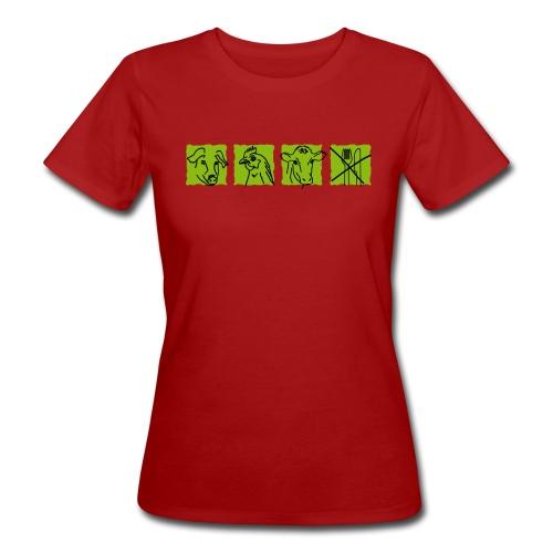 Ich esse keine Tiere - Frauen Bio-T-Shirt
