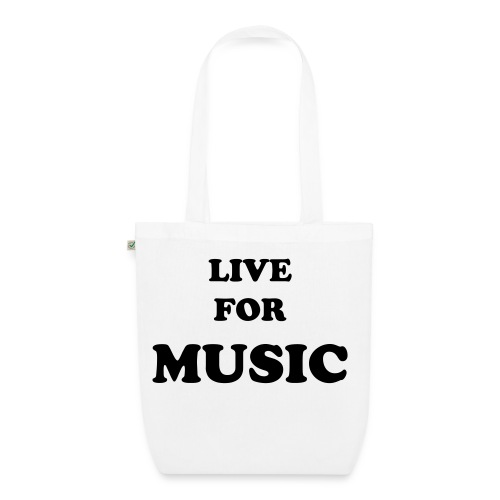 LIVE FOR MUSIC BAG - EarthPositive Tote Bag