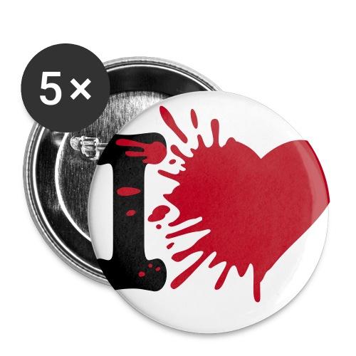 Buttons/Badges med eget design  - Buttons/Badges stor, 56 mm (5-pack)