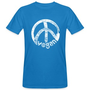 Mens Klimaneutral 'vegan peace' - Männer Bio-T-Shirt