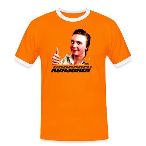 Korsring - Kontrast-T-shirt herr