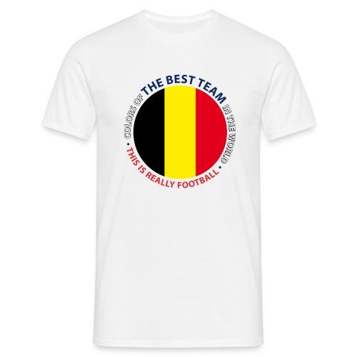 BELGIUM. ART SHIELD. - T-shirt Homme