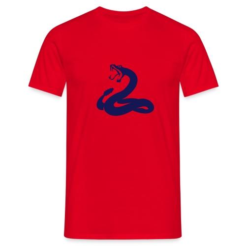 SNAKE T-Shirt Rot - Männer T-Shirt