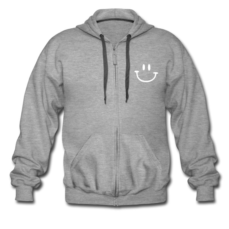ptb_smiley_face - Men's Premium Hooded Jacket