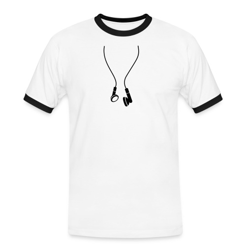 Ohrhörer - Männer Kontrast-T-Shirt