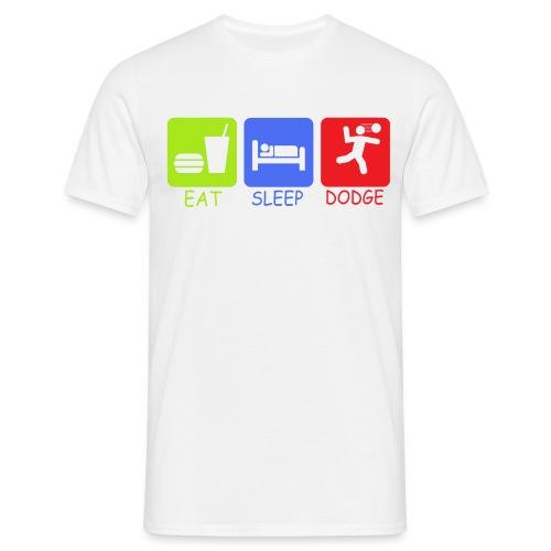 EAT SLEEP DODGE Mens T-Shirt - Men's T-Shirt